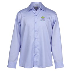 View a larger, more detailed picture of the Boulevard Wrinkle Free Cotton Dobby Shirt - Men s