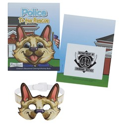 View a larger, more detailed picture of the Coloring Book w Mask - Police to the Rescue