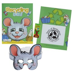 View a larger, more detailed picture of the Coloring Book w Mask & Crayons - Recycling is Fun