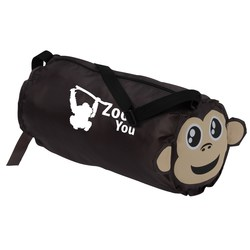 View a larger, more detailed picture of the Paws and Claws Barrel Duffel Bag - Monkey
