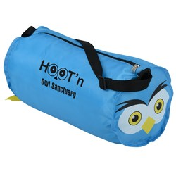 View a larger, more detailed picture of the Paws and Claws Barrel Duffel Bag - Owl