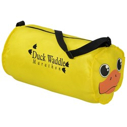 View a larger, more detailed picture of the Paws and Claws Barrel Duffel Bag - Duck