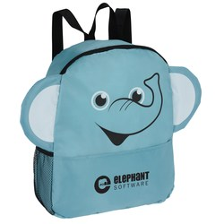 View a larger, more detailed picture of the Paws and Claws Backpack - Elephant