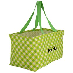 View a larger, more detailed picture of the Utility Tote - 12-1 2 x 22 - Gingham