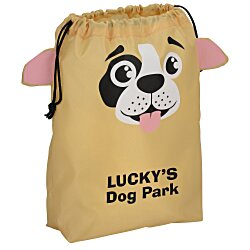 View a larger, more detailed picture of the Paws and Claws Drawstring Gift Bag - Puppy