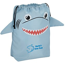View a larger, more detailed picture of the Paws and Claws Drawstring Gift Bag - Shark