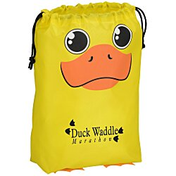 View a larger, more detailed picture of the Paws and Claws Drawstring Gift Bag - Duck