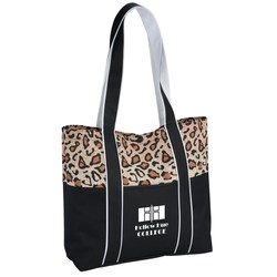 View a larger, more detailed picture of the West Hampton Tote - Leopard