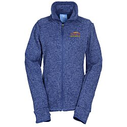 View a larger, more detailed picture of the Heathered Fleece Jacket - Ladies