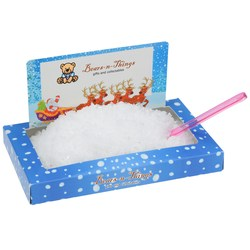 View a larger, more detailed picture of the Santa Snowscape Box