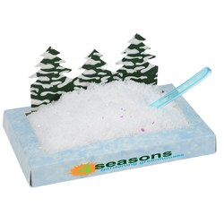 View a larger, more detailed picture of the Pine Trees Snowscape Box