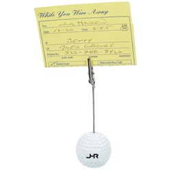 View a larger, more detailed picture of the Golf Ball Memo Holder - Closeout