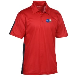 View a larger, more detailed picture of the Active Textured Colorblock Performance Polo - Men s