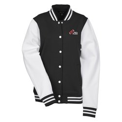 View a larger, more detailed picture of the Letterman Fleece Jacket - Ladies
