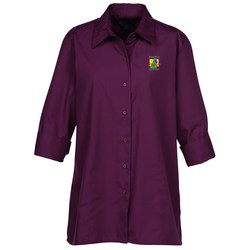 View a larger, more detailed picture of the Superblend 3 4 Sleeve Poplin Swing Shirt - Ladies
