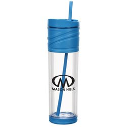 View a larger, more detailed picture of the Melrose Tumbler with Straw - 16 oz