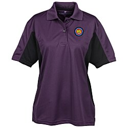 View a larger, more detailed picture of the Stain Release Color Block Performance Polo - Ladies