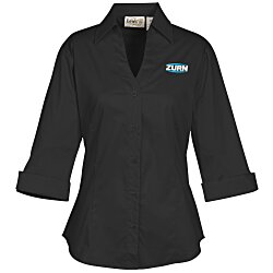 View a larger, more detailed picture of the Signature V-Neck 3 4 Sleeve Blouse - Ladies