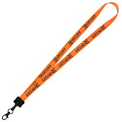 View a larger, more detailed picture of the Smooth Nylon Lanyard - 3 4 - 32 Lgth- Metal Swivel Hook