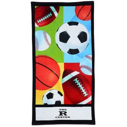 View a larger, more detailed picture of the All Sports Beach Towel - Closeout