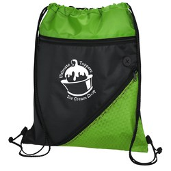 View a larger, more detailed picture of the Angled Drawstring Sportpack - 24 hr