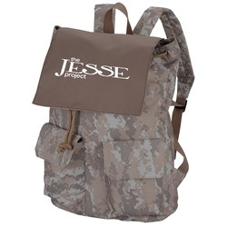 View a larger, more detailed picture of the In Print Rucksack Backpack - Camo