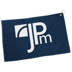 View a larger, more detailed picture of the Golf Towel with Hook and Grommet - Closeout