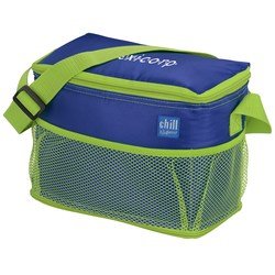 View a larger, more detailed picture of the Chill by Flexi Freeze 6-Can Cooler w Mesh Pockets