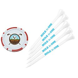 View a larger, more detailed picture of the Poker Chip Tee Pack - 3-1 4