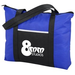 View a larger, more detailed picture of the Timeline Zippered Tote
