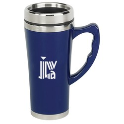 View a larger, more detailed picture of the Merge Travel Mug - 16 oz - Closeout