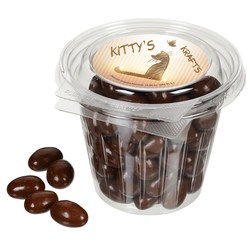 View a larger, more detailed picture of the Round Snack Pack - Chocolate Almonds
