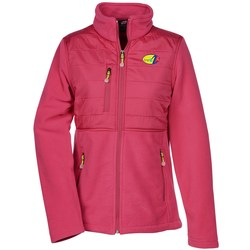 View a larger, more detailed picture of the Quilted Overlay Fleece Jacket - Ladies