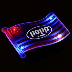 View a larger, more detailed picture of the Flashing USA Flag Pin