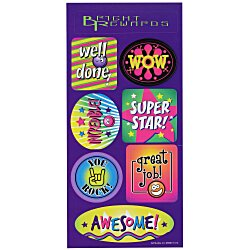 View a larger, more detailed picture of the Super Kid Sticker Sheet - Wow Words