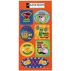 View a larger, more detailed picture of the Super Kid Sticker Sheet - Dollars and Cents