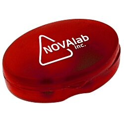 View a larger, more detailed picture of the Oval Pill Box - Translucent - 24 hr