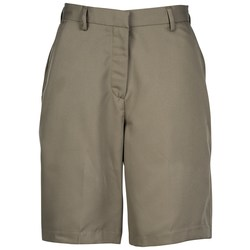 View a larger, more detailed picture of the Microfiber Pleated Transit Shorts - Ladies