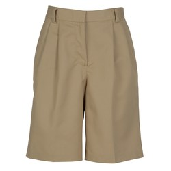 View a larger, more detailed picture of the Poly Cotton Pleated Front Transit Shorts - Ladies