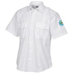 View a larger, more detailed picture of the Poly Cotton Short Sleeve Security Shirt