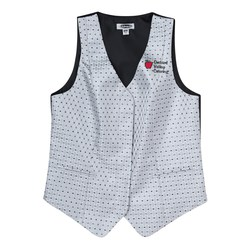 View a larger, more detailed picture of the Diamonds & Dots Brocade Vest - Ladies