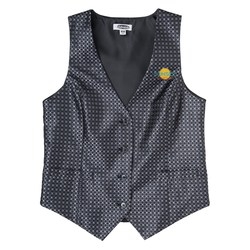 View a larger, more detailed picture of the Grid Brocade Vest - Ladies