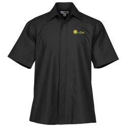 View a larger, more detailed picture of the Broadcloth Short Sleeve Caf Shirt - Men s