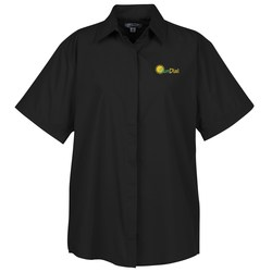 View a larger, more detailed picture of the Broadcloth Short Sleeve Caf Shirt - Ladies
