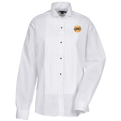 View a larger, more detailed picture of the Pintuck Bib Tuxedo Shirt - Ladies