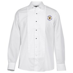 View a larger, more detailed picture of the Pleated Bib Tuxedo Shirt - Men s