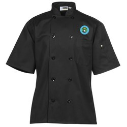 View a larger, more detailed picture of the Ten Button Short Sleeve Chef Coat