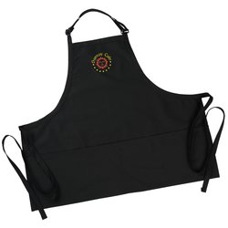 View a larger, more detailed picture of the Bib Apron with Three Pockets