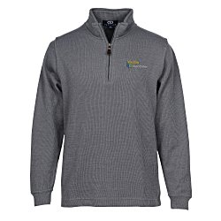 View a larger, more detailed picture of the Flat Back Zip Rib Pullover - Men s