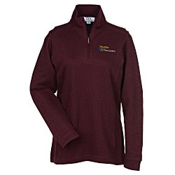 View a larger, more detailed picture of the Flat Back Zip Rib Pullover - Ladies